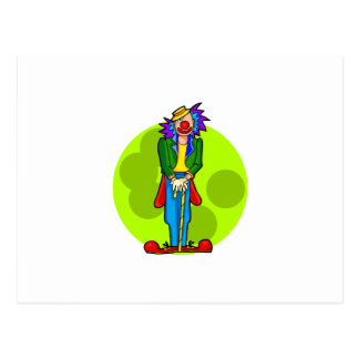 Goofy Clown with Cane Postcard