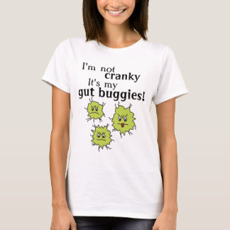 Goofy cranky gut buggies bacteria bugs stomach tee