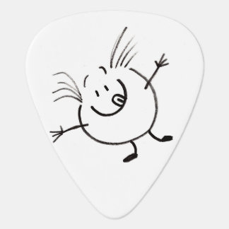 Goofy Doodle Guy Guitar Pick