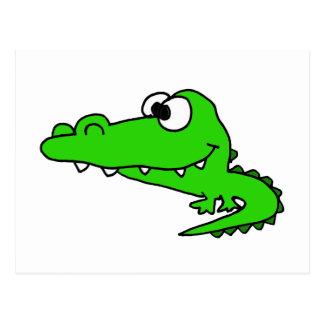 Goofy Gator Cartoon Postcard