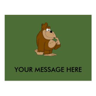 Goofy gorilla design stationery postcard