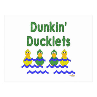 Goofy Green And Yellow Ducks Dunkin' Ducklets Post Card