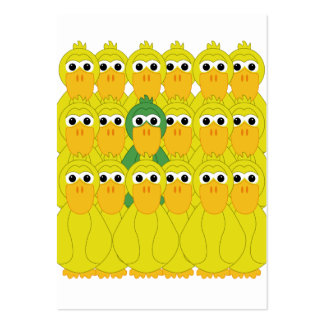 Goofy Green Duck Be Different Pack Of Chubby Business Cards