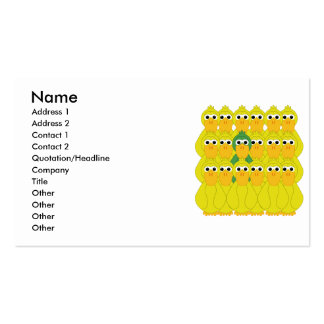 Goofy Green Duck Be Different Pack Of Standard Business Cards
