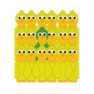 Goofy Green Duck Be Different Postcard