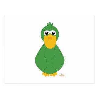 Goofy Green Duck Postcard