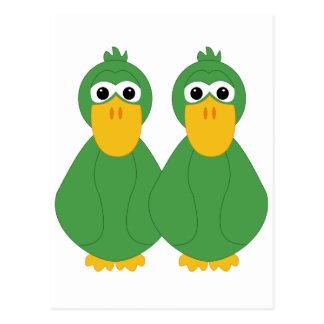 Goofy Green Ducks Postcards