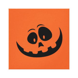 Goofy Orange Halloween Jack O'Lantern Costume Canvas Print