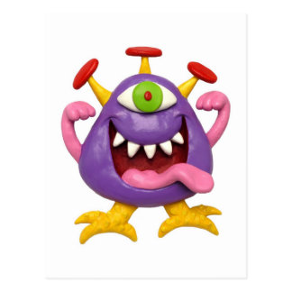 Goofy Purple Monster Postcard