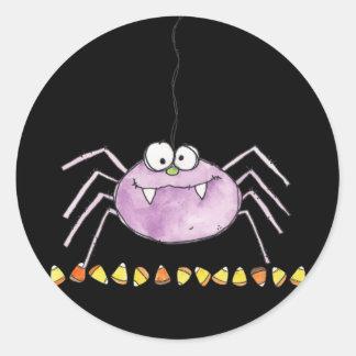 goofy spider classic round sticker