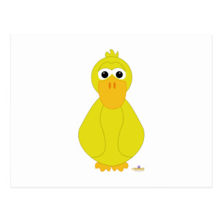 Goofy Yellow Duck Post Cards