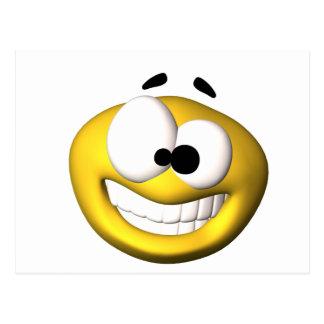Goofy yellow smiley post cards