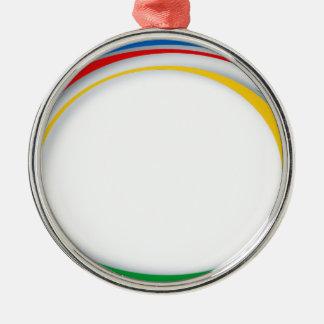 Google colours Silver-Colored round decoration