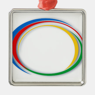 Google colours Silver-Colored square decoration
