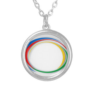 Google colours silver plated necklace