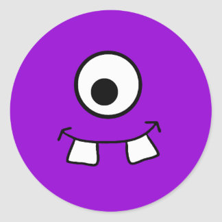 Googly Eyed Purple Monster Sticker