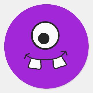 Googly Eyed Purple Monster Sticker