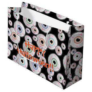 Googly Eyes Halloween Large Gift Bag