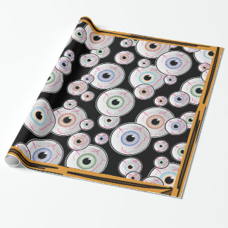 Googly Eyes in Windows Wrapping Paper
