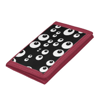Googly Eyes Tri-fold Wallets