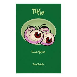 Googly Monster Eyes Personalized Stationery