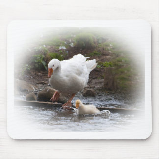 Goose and Gosling Mouse Pad