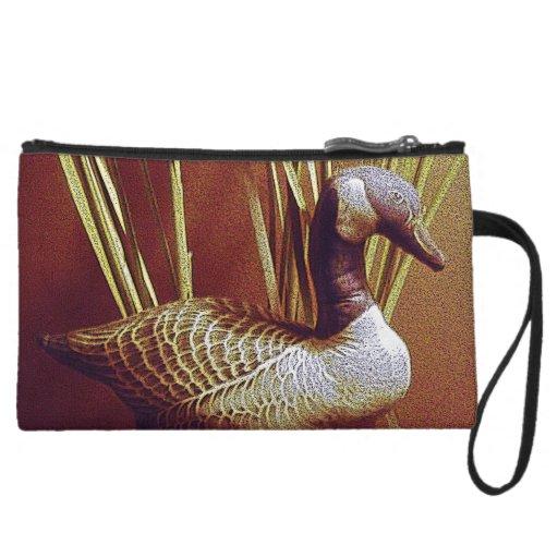 Goose Decoration Wristlet Clutches