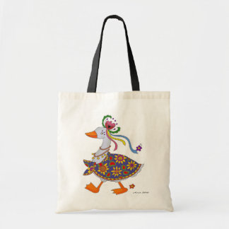 Goose Goes Out Ukrainian Folk Art Tote Bag