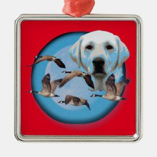 Goose hunter 3 metal ornament