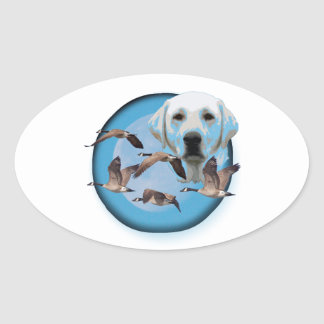 Goose hunter 3 oval sticker