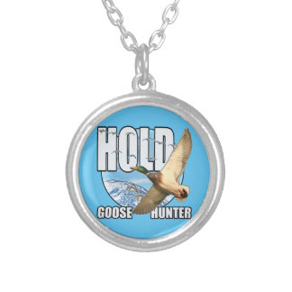 Goose hunter silver plated necklace