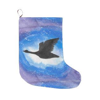 Goose In Flight Christmas Stocking