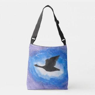 Goose In Flight Cross Body Bag