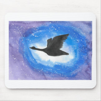 Goose In Flight Mouse Pad
