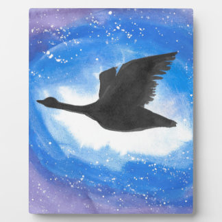 Goose In Flight Plaque