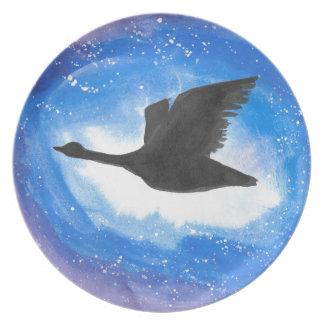 Goose In Flight Plates