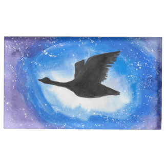 Goose In Flight Table Card Holder