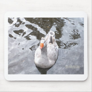 Goose in the Water Mouse Pad