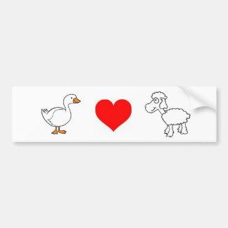 Goose. Love. Sheep. Bumper Sticker