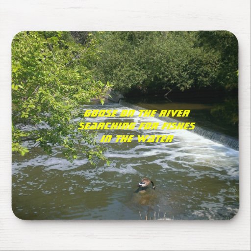 Goose on the river mousepad