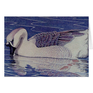 Goose Painting Card