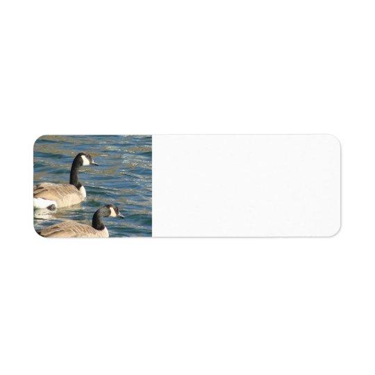 Goose Pair Return Address Label