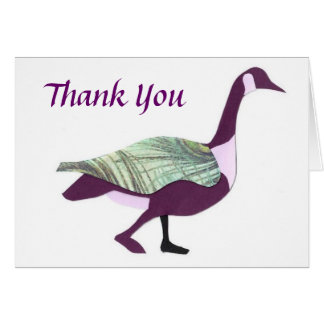 Goose Thank You Card