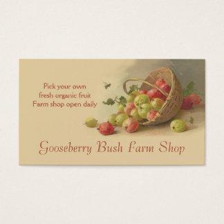 Gooseberries pears fruit sales business card