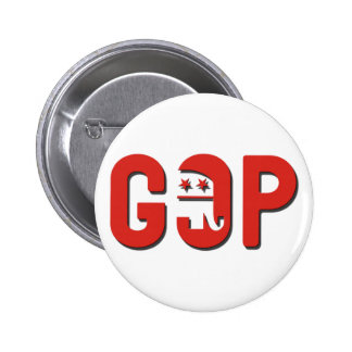 GOP 6 CM ROUND BADGE
