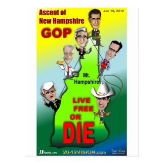 GOP Ascent of New Hampshire Postcard