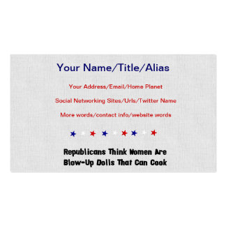 GOP Blow-Up Dolls Pack Of Standard Business Cards