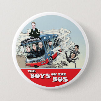 GOP Bus 7.5 Cm Round Badge