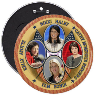 GOP Candidates for President 2016 6 Cm Round Badge