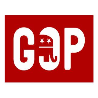 GOP Elephant Logo Postcard